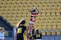 Chyna Hohepa of Waikato takes the lineout ball during the Farah Palmer Cup - Wellington Pride v Waikato at Westpac Stadium, Wellington, New Zealand on Saturday 28 September 2019. <br /> Photo by Masanori Udagawa. <br /> www.photowellington.photoshelter.com