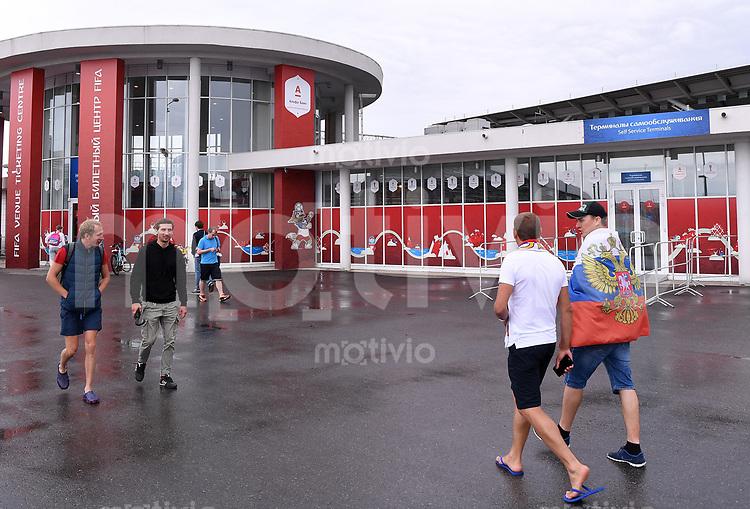 FUSSBALL FIFA Confed Cup 2017 Vorrunde in Sotchi 19.06.2017  Australien - Deutschland  Das Spielort Ticketing Center in Sotschi, es herrscht wenig Andrang fuer die Restkarte fuer das erste Deutsche Spiel.