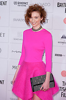 Eleanor Tomlinson arriving for the Moet British Independent Film Awards 2014, London. 07/12/2014 Picture by: Alexandra Glen / Featureflash