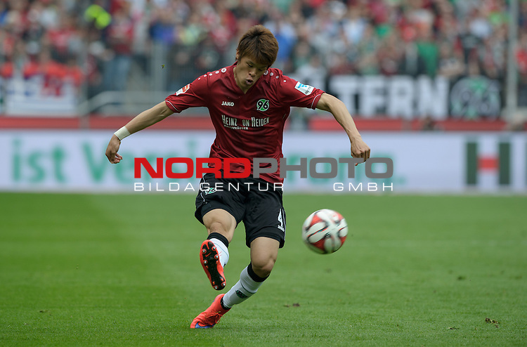 09.05.2015, HDI Arena, Hannover, GER, 1.FBL, Hannover 96 vs Werder Bremen, im Bild Hiroki Sakai (Hannover #4)<br /> <br /> Foto &copy; nordphoto / Frisch