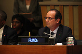 President François Hollande of France attends a meeting of the Open Government Partnership at the United Nations 69th General Assembly at U.N. Headquarters in New York, New York on Wednesday, September 24, 2014. <br /> Credit: Allan Tannenbaum / Pool via CNP