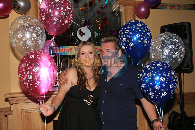 Nicole bell 18<br /> Ivan bell 40 double party<br /> Picture:  Fran Caffrey / www.newsfile.ie