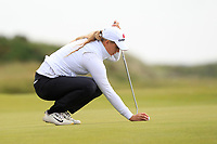 Kiira Kiihijarvi (FIN) on the 7th green during Round 3 Matchplay of the Women's Amateur Championship at Royal County Down Golf Club in Newcastle Co. Down on Friday 14th June 2019.<br /> Picture:  Thos Caffrey / www.golffile.ie