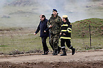 """Prince Felipe of Spain during exercise """"GAMMA PALAZUELOS 2013"""" of theMIlitary Unit of Emergency (UME).March 11 ,2013. (ALTERPHOTOS/Acero)"""