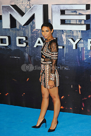 LONDON, ENGLAND - MAY 9: Alexandra Shipp attending the 'X-Men: Apocalypse' - Global Fan Screening at BFI IMAX in London on May 9, 2016 in London, England.<br /> CAP/MAR<br /> &copy; Martin Harris/Capital Pictures /MediaPunch ***NORTH AND SOUTH AMERICAN SALES ONLY***