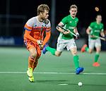 AMSTELVEEN - Jeroen Hertzberger (Ned)  tijdens de hockeyinterland Nederland-Ierland (7-1) , naar aanloop van het WK hockey in India.  COPYRIGHT KOEN SUYK