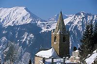 Europe/France/Rhône-Alpes/38/Isère/Huez: la Chapelle Sainte Ferréol en hiver