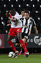Lucas Akins of Stevenage escapes from Alan Judge of Notts County.  Notts County v Stevenage- npower League 1 -  Meadow Lane, Nottingham - 2nd October, 2012. © Kevin Coleman 2012
