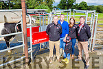 Kieran and Killian Clifford with Lely reps Brian o'riordan, Jordan Molloy and Brian Prendergast at the Lely open day on their farm on Thursday