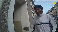 Pictured: Body cam footage showing the moments before Simon Winstone was arrested. 29 May 2018<br /> Re: Simon Winstone, 49 has been jailed today (Thu 06 12 2018) at Merthyr Crown Court, after beinn found guilty of murdering Denise Rosser, 38, who was found dead at her home in Bedlinog, near Merthyr Tydfil, at about 6.20am on 29 May 2018.