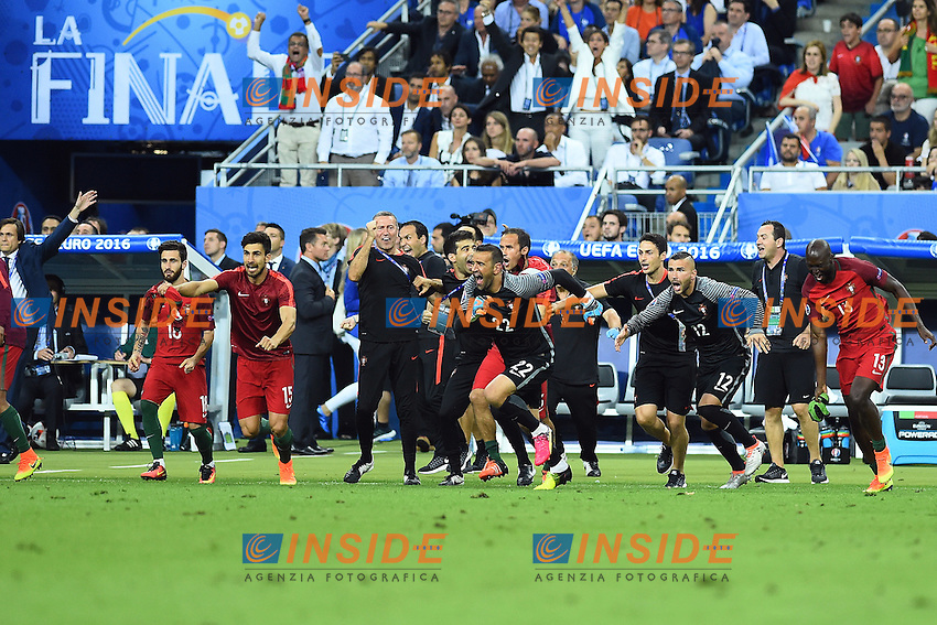 esultanza fine gara Portugal celebration end of match<br /> Paris 10-07-2016 Stade de France Football Euro2016 Portugal - France / Portogallo - Francia Finale / Final<br /> Foto Massimo Insabato / Insidefoto