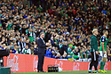 Northern Ireland's manager Michael O'Neill during the FIFA World Cup 2018 qualifying soccer match between Northern Ireland and Germany, in Belfast, Northern Ireland, Britain, 05 October 2017. Photo/Paul McErlane