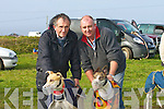 ON THEIR MARK: On their marks were: Gallant George with his trainer John Flynn Tarbert and Denis Curtin with his dog Fairview Kingdom at the Ballyheigue Coursing on Saturday...................................................   Copyright Kerry's Eye 2008