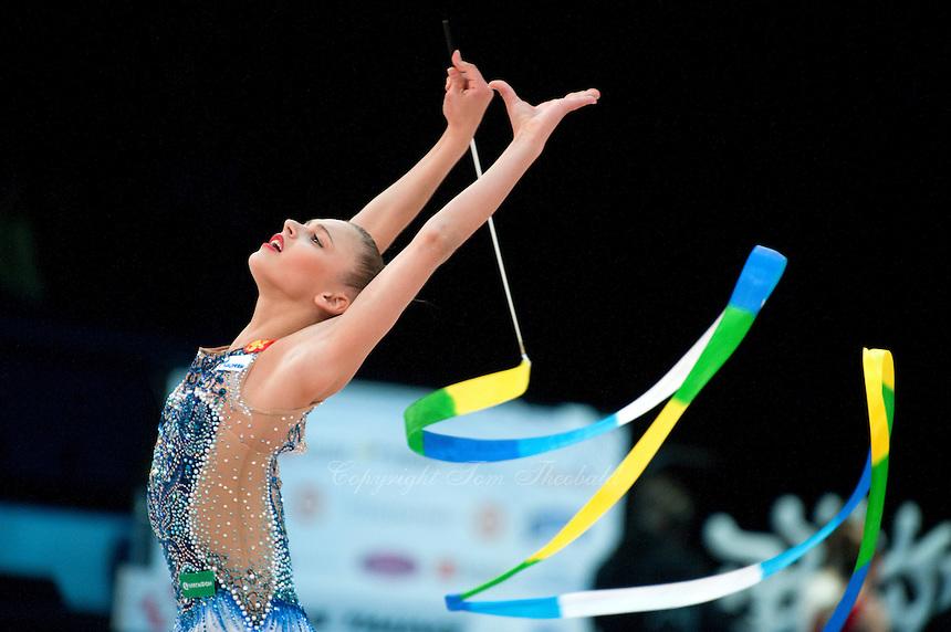 February 27, 2016 - Espoo, Finland - ALEKSANDRA SOLDATOVA of Russia win AA gold at Espoo World Cup 2016.