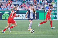 Portland, OR - Saturday July 22, 2017: Tori Huster during a regular season National Women's Soccer League (NWSL) match between the Portland Thorns FC and the Washington Spirit at Providence Park.
