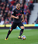 Sead Kolasinac of Arsenal during the premier league match at the Britannia Stadium, Stoke. Picture date 19th August 2017. Picture credit should read: Robin Parker/Sportimage