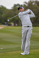 Sergio Garcia (ESP) watches his approach shot no 14 during Round 2 of the Valero Texas Open, AT&T Oaks Course, TPC San Antonio, San Antonio, Texas, USA. 4/20/2018.<br /> Picture: Golffile | Ken Murray<br /> <br /> <br /> All photo usage must carry mandatory copyright credit (© Golffile | Ken Murray)