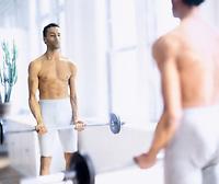 Man lifting weights<br />
