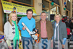 Olivia Corkery Killorglin, Phil O'Sullivan, Craig Boyle, Denis and Patricia Griffin Killorglin looking at the tools on offer at the Business Expo in Killarney Outlet Centre on Saturday