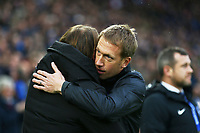 Brighton & Hove manager Graham Potter hugs Norwich City manager Daniel Farke during Brighton & Hove Albion vs Norwich City, Premier League Football at the American Express Community Stadium on 2nd November 2019