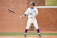 Nate Roberts #19 of the High Point Panthers at bat versus the Eastern Kentucky Colonels at Williard Stadium March 14, 2010 in High Point, North Carolina.  Photo by Brian Westerholt / Four Seam Images