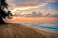 Sunset at Sunset Beach, North Shore, O'ahu.
