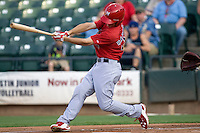 Memphis Redbirds outfielder James Rapoport #44 swings during a game against the Round Rock Express at the Dell Diamond on July 7, 2011in Round Rock, Texas.  Round Rock defeated Memphis 6-4.  (Andrew Woolley / Four Seam Images)