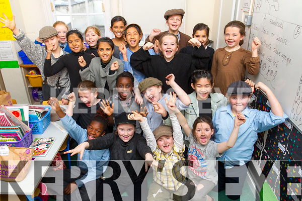 Presentation Primary School Students in rehearsal for Oliver Twist  on Tuesday morning