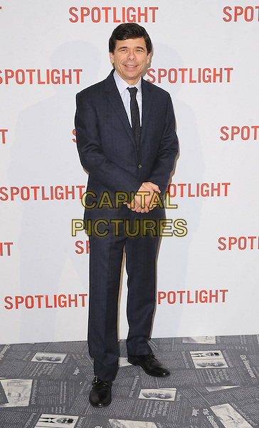 LONDON, ENGLAND - JANUARY 20: Mike Rezendes attends the UK Premiere of Spotlight at the Washington Hotel and Curzon Mayfair on January 20, 2016 in London, England.<br /> CAP/BEL<br /> &copy;Tom Belcher/Capital Pictures