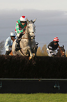 Race winner Elenika ridden by Ruby Walsh jumping action during the Tom Jones Memorial HTJ Centre Ltd Beginners Chase