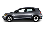 Car driver side profile view of a 2017 Volkswagen E-Golf SE 5 Door Hatchback