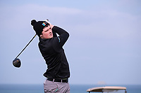TJ Ford (MU) during the final of the Irish Students Amateur Open Championship, Tralee Golf Club, Tralee, Co Kerry, Ireland. 12/04/2018.<br /> Picture: Golffile | Fran Caffrey<br /> <br /> <br /> All photo usage must carry mandatory copyright credit (&copy; Golffile | Fran Caffrey)