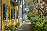 Rainbow Row, East Bay St,  Charleston, SC