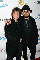 HOLLYWOOD, CA - NOVEMBER 8: Billy Morrison, Dave Navarro at the Pop-Up Art Show by Billy Morrison and Steve Stevens at Ken Paves Salon in West Hollywood, California on November 8, 2019. Credit: David Edwards/MediaPunch
