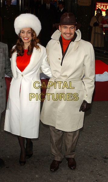 KELLY BROOK & BILLY ZANE .Opening of Harrods January Sale, KNightsbridge, London, UK..December 28th, 2006.Ref: BEL.full length celebrity couple white fur hat coat beige trench coat brown.www.capitalpictures.com.sales@capitalpictures.com.© Capital Pictures.