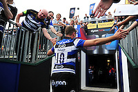 George Ford of Bath Rugby leaves the field after the match. Aviva Premiership match, between Bath Rugby and Newcastle Falcons on September 10, 2016 at the Recreation Ground in Bath, England. Photo by: Patrick Khachfe / Onside Images