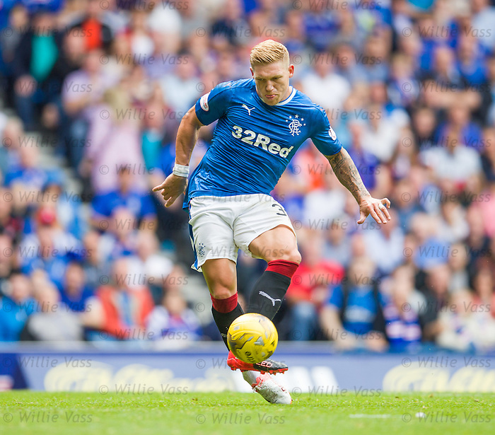 Martyn Waghorn scores for Rangers as Harry Forrester tees him up