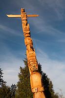 Olympiastadt Vancouver 2010..Totem Pole im  Stanley Park