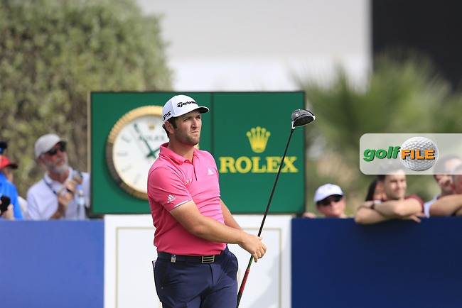 Jon Rahm (ESP) on the 10th fairway during the 3rd round of the DP World Tour Championship, Jumeirah Golf Estates, Dubai, United Arab Emirates. 17/11/2018<br /> Picture: Golffile | Fran Caffrey<br /> <br /> <br /> All photo usage must carry mandatory copyright credit (&copy; Golffile | Fran Caffrey)