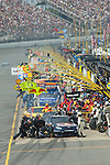 June 14 2009:  Most of the field pits during the LifeLock 400 at Michigan International Speedway in Brooklyn, MIchigan.