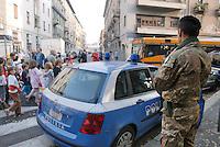 - Milan, soldiers in security service in Padova street....- Milano, militari  in servizio di sicurezza in via Padova