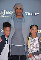 LOS ANGELES, CA. April 4, 2016. Actor Boris Kodjoe &amp; children at the world premiere of &quot;The Jungle Book&quot; at the El Capitan Theatre, Hollywood.<br /> Picture: Paul Smith / Featureflash
