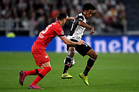 Lucas Alario of Leverkusen , Juan Cuadrado of Juventus <br /> Torino 01/10/2019 Juventus Stadium <br /> Football Champions League 2019//2020 <br /> Group Stage Group D <br /> Juventus - Leverkusen <br /> Photo Andrea Staccioli / Insidefoto