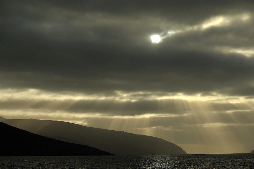 Rays over Carnley Harbor, Auckland Island