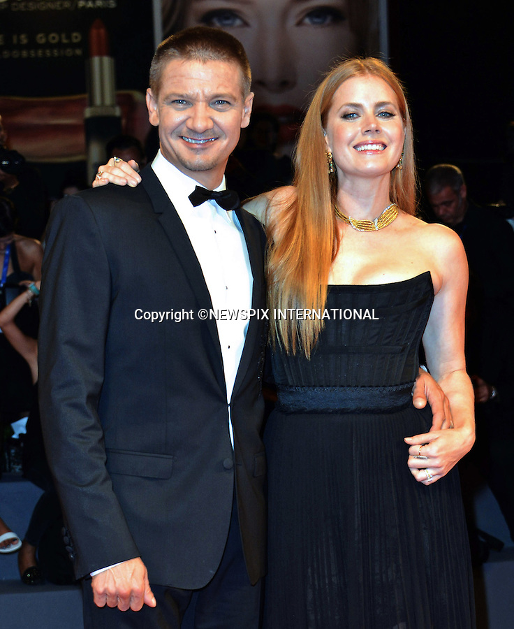 01.08.2016; Venice, Italy: AMY ADAMS AND JEREMY RENNER<br /> atttend &ldquo;The Light Between Oceans&rdquo; screening at the 73rd Venice Film Festival.<br /> Mandatory Credit Photo: &copy;NEWSPIX INTERNATIONAL<br /> <br /> PHOTO CREDIT MANDATORY!!: NEWSPIX INTERNATIONAL(Failure to credit will incur a surcharge of 100% of reproduction fees)<br /> <br /> IMMEDIATE CONFIRMATION OF USAGE REQUIRED:<br /> Newspix International, 31 Chinnery Hill, Bishop's Stortford, ENGLAND CM23 3PS<br /> Tel:+441279 324672  ; Fax: +441279656877<br /> Mobile:  0777568 1153<br /> e-mail: info@newspixinternational.co.uk<br /> Please refer to usage terms. All Fees Payable To Newspix International