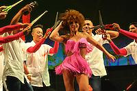 BARRANQUILLA-COLOMBIA- 16-01-2016: La Fiesta de Danzas y Cumbias del Carnaval de Barranquilla 2016 invita a todos los colombianos a contagiarse del Jolgorio general encabezado por su reina Marcela Garcia Caballero. Este desorden organizado dará la oportunidad de apreciar a propios y extraños el desfile de danzas, disfraces y hacedores del carnaval que la convierten en una de las festividades más importantes del país y que se lleva a cabo hasta el 9 de febrero de 2016. / The party of Dances and Cumbias of Carnaval de Barranquilla 2016 invites all Colombians to catch the general reverly led by their Queen Marcela Garcia Caballero. This organized disorder gives the oportunity to appreciate, by friends and strangers, the parade of dancers, customes and carnival makers that make it one of the most important festivals of the country and take place until February 9, 2016.  Photo: VizzorImage / Alfonso Cervantes / STR