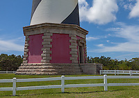 Cape Hatteras National Seashore, North Carolina<br /> Base of the Cape Hatteras Lighthouse (1870)