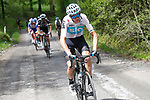 Chris Froome (GBR) Team Sky attacks 80km out on the Colle delle Finestre during Stage 19 of the 2018 Giro d'Italia, running 185km from Venaria Reale to Bardonecchia featuring the Cima Coppi of this Giro, the highest climb on the Colle delle Finestre with its gravel roads, before finishing on the final climb of the Jafferau, Italy. 25th May 2018.<br /> Picture: LaPresse/POOL Luca Bettini/BettiniPhoto | Cyclefile<br /> <br /> <br /> All photos usage must carry mandatory copyright credit (&copy; Cyclefile | LaPresse/POOL Luca Bettini/BettiniPhoto)