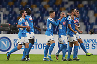 Nikola Maksimovic of Napoli celebrates with team mates after scoring a goal<br /> Napoli 30-10-2019 Stadio San Paolo <br /> Football Serie A 2019/2020 <br /> SSC Napoli - Atalanta BC<br /> Photo Cesare Purini / Insidefoto