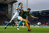 Preston North End's Joe Rafferty shields the ball from Blackburn Rovers' Sam Gallagher<br /> <br /> Photographer Alex Dodd/CameraSport<br /> <br /> The EFL Sky Bet Championship - Blackburn Rovers v Preston North End - Saturday 11th January 2020 - Ewood Park - Blackburn<br /> <br /> World Copyright © 2020 CameraSport. All rights reserved. 43 Linden Ave. Countesthorpe. Leicester. England. LE8 5PG - Tel: +44 (0) 116 277 4147 - admin@camerasport.com - www.camerasport.com